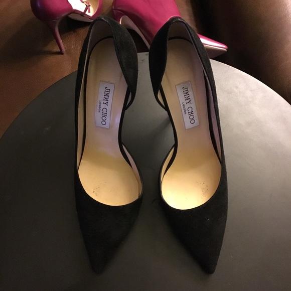 fbec05317 Jimmy Choo Shoes - Jimmy Choo black suede open stiletto shoes 40.5